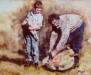 phil-and-the-apprentice  ( oil - 60 x 75cm )