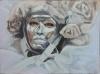 masquerade-bianco( oil - 30 x 40 cm )