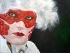 scarlet-masquerade( oil - 75 x 100cm )