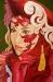 vermilion-masquerade ( oil - 75 x 50cm )